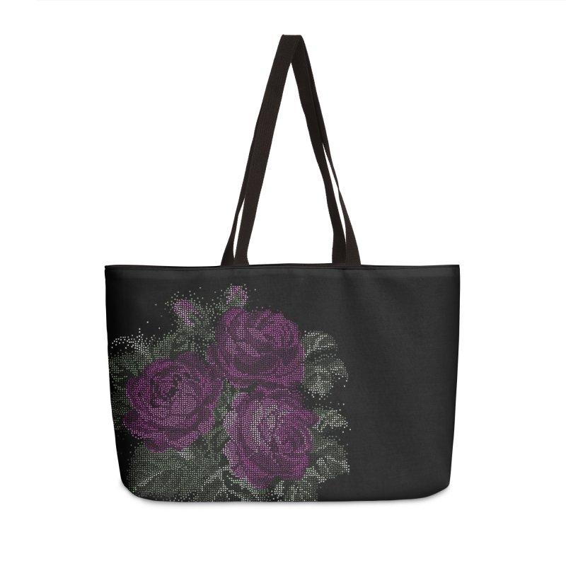 Vintage Mosaic Roses Accessories Bag by Art by Maija R