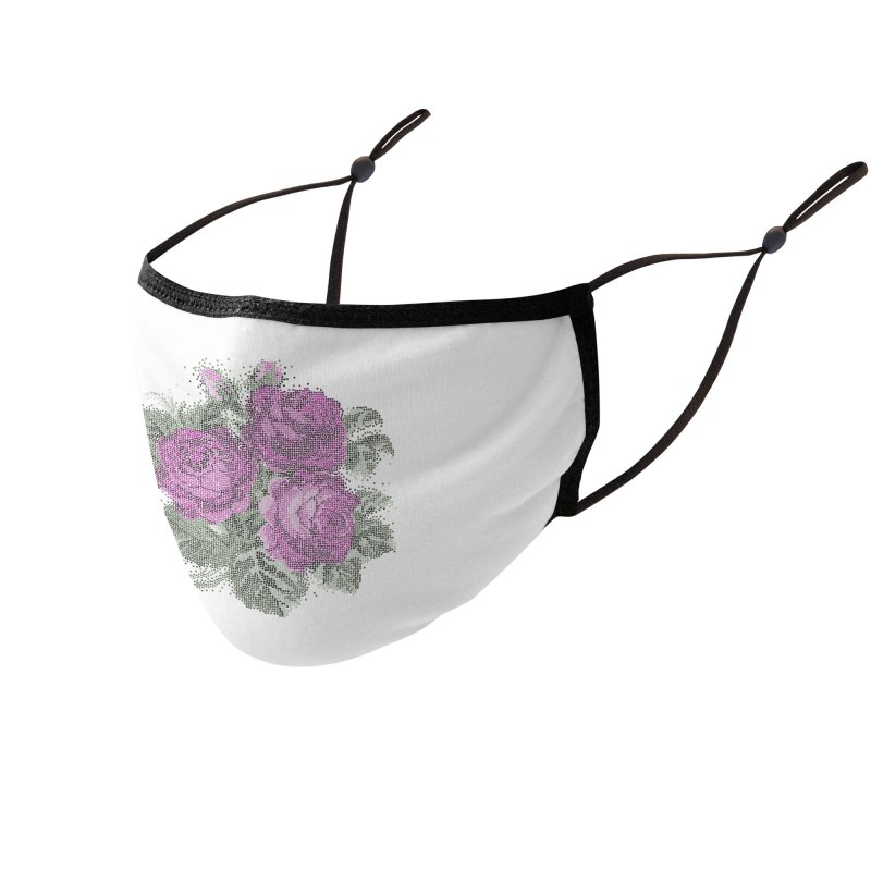 Pixel Roses Accessories Face Mask by Art by Maija R