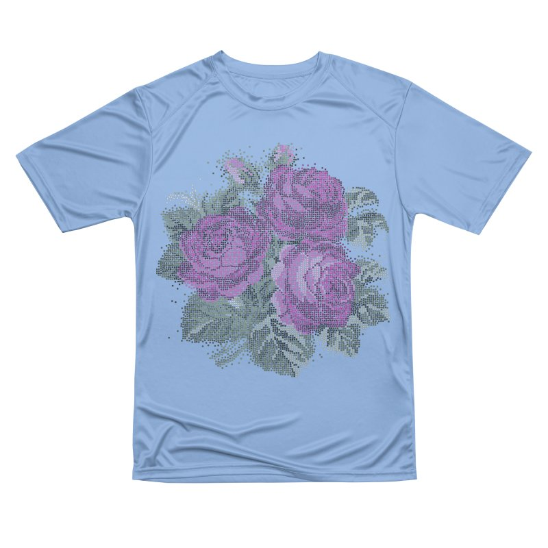 Pixel Roses Fitted T-Shirt by Art by Maija R