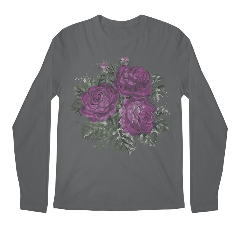 Pixel Roses Unisex Longsleeve T-Shirt by Art by Maija R