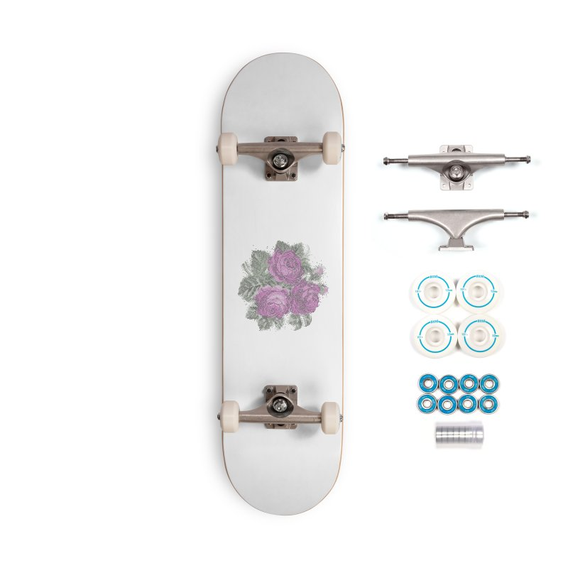 Pixel Roses Accessories Skateboard by Art by Maija R