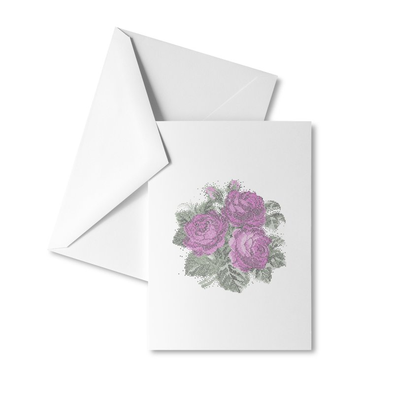 Pixel Roses Accessories Greeting Card by Art by Maija R