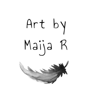 Art by Maija R Logo