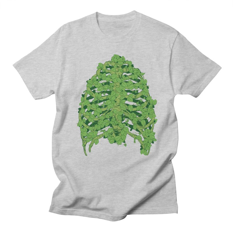 Greenery Ribs Men's T-shirt by mainial's Artist Shop