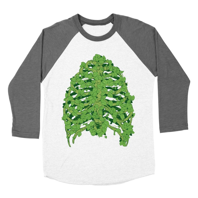Greenery Ribs Men's Baseball Triblend T-Shirt by mainial's Artist Shop