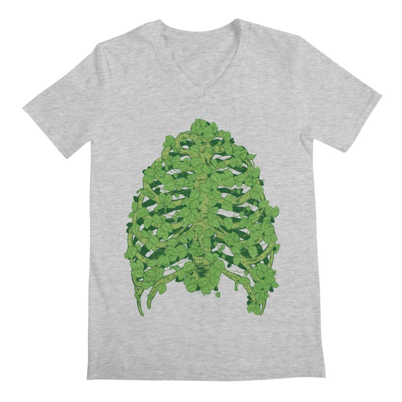 Greenery Ribs Men's Regular V-Neck by mainial's Artist Shop