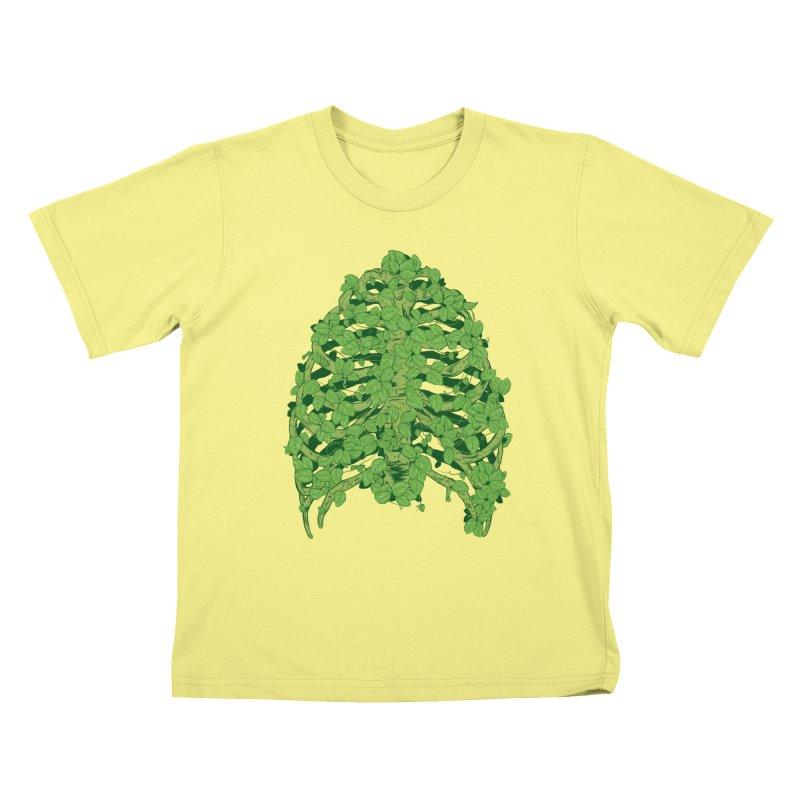 Greenery Ribs Kids T-shirt by mainial's Artist Shop