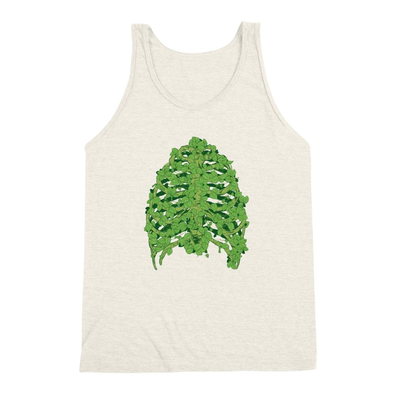 Greenery Ribs Men's Triblend Tank by mainial's Artist Shop