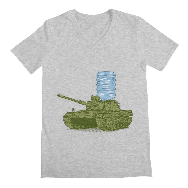 Water Tank Men's Regular V-Neck by mainial's Artist Shop