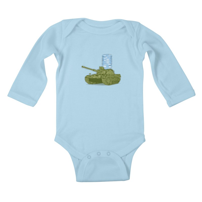 Water Tank Kids Baby Longsleeve Bodysuit by mainial's Artist Shop