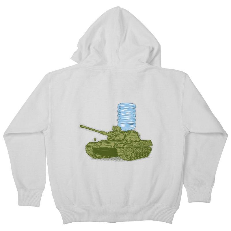 Water Tank Kids Zip-Up Hoody by mainial's Artist Shop