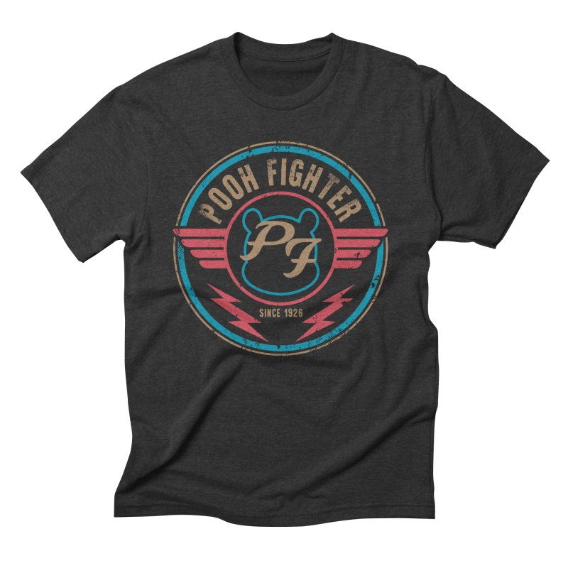 Pooh Fighter Men's Triblend T-Shirt by mainial's Artist Shop