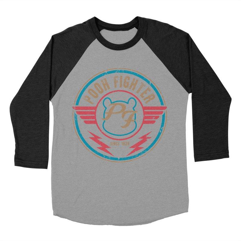 Pooh Fighter Men's Baseball Triblend Longsleeve T-Shirt by mainial's Artist Shop