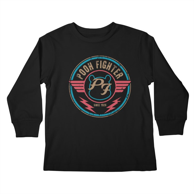 Pooh Fighter Kids Longsleeve T-Shirt by mainial's Artist Shop