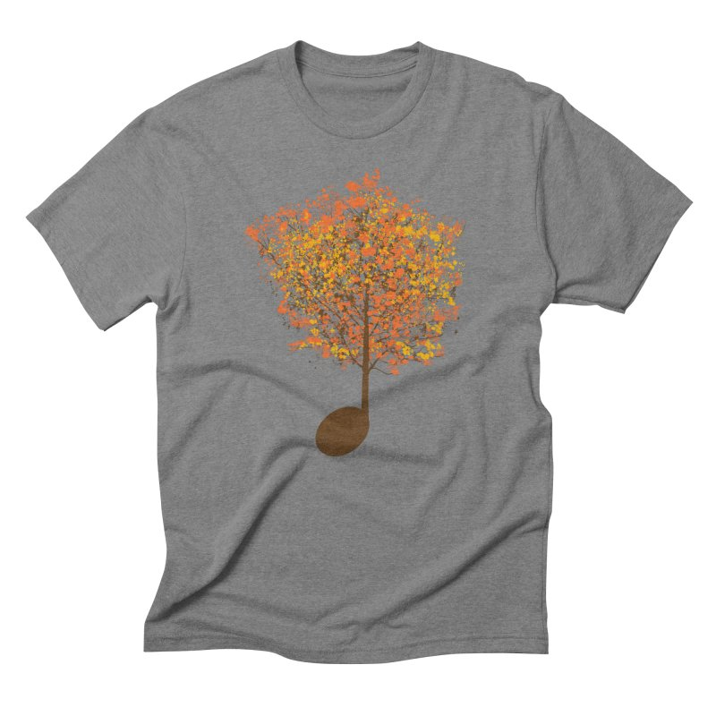 The Note Tree Men's Triblend T-Shirt by mainial's Artist Shop