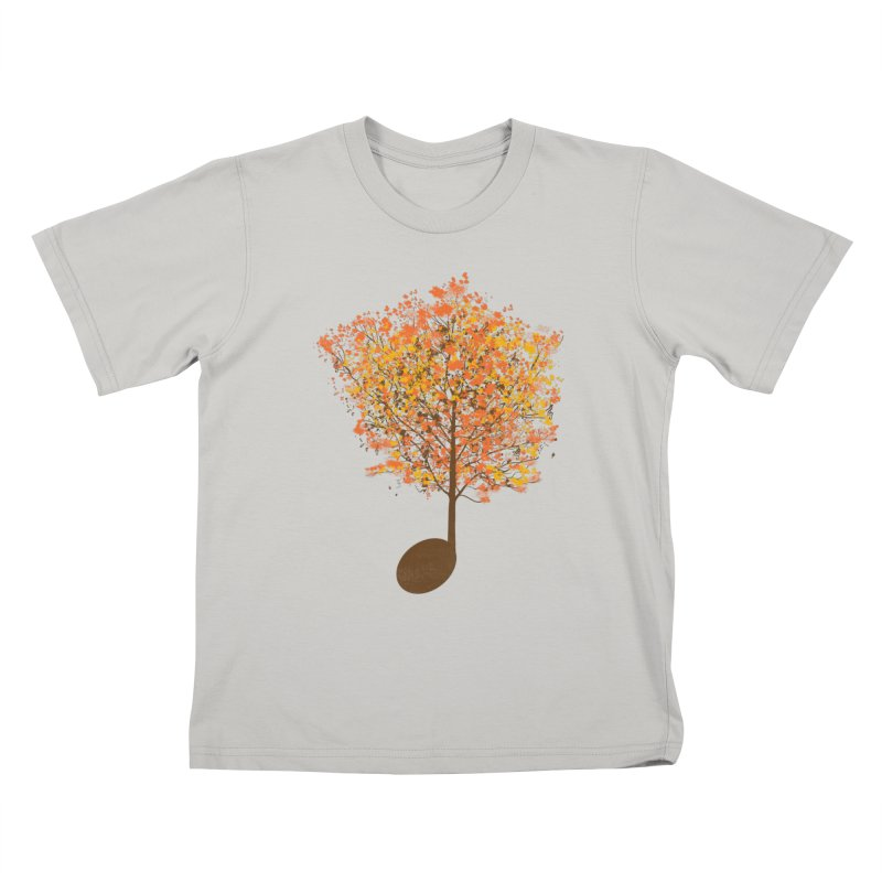 The Note Tree Kids T-shirt by mainial's Artist Shop