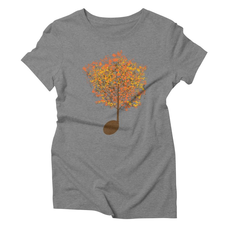 The Note Tree Women's Triblend T-shirt by mainial's Artist Shop