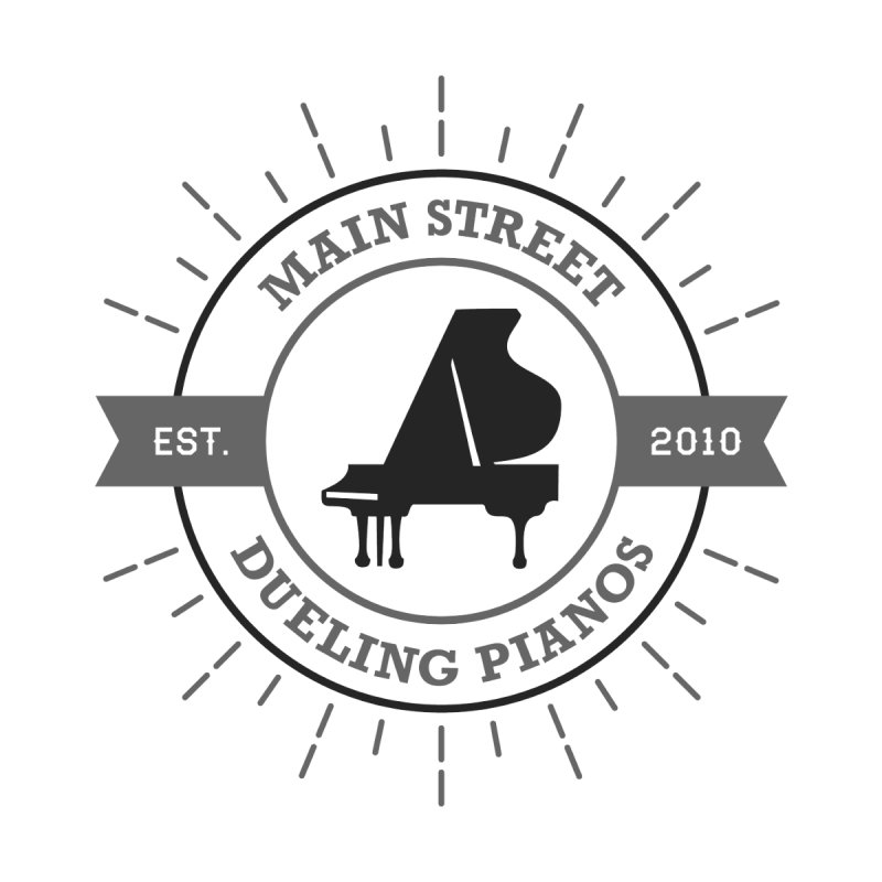 Main Street Logo Accessories Sticker by Main Street Dueling Pianos