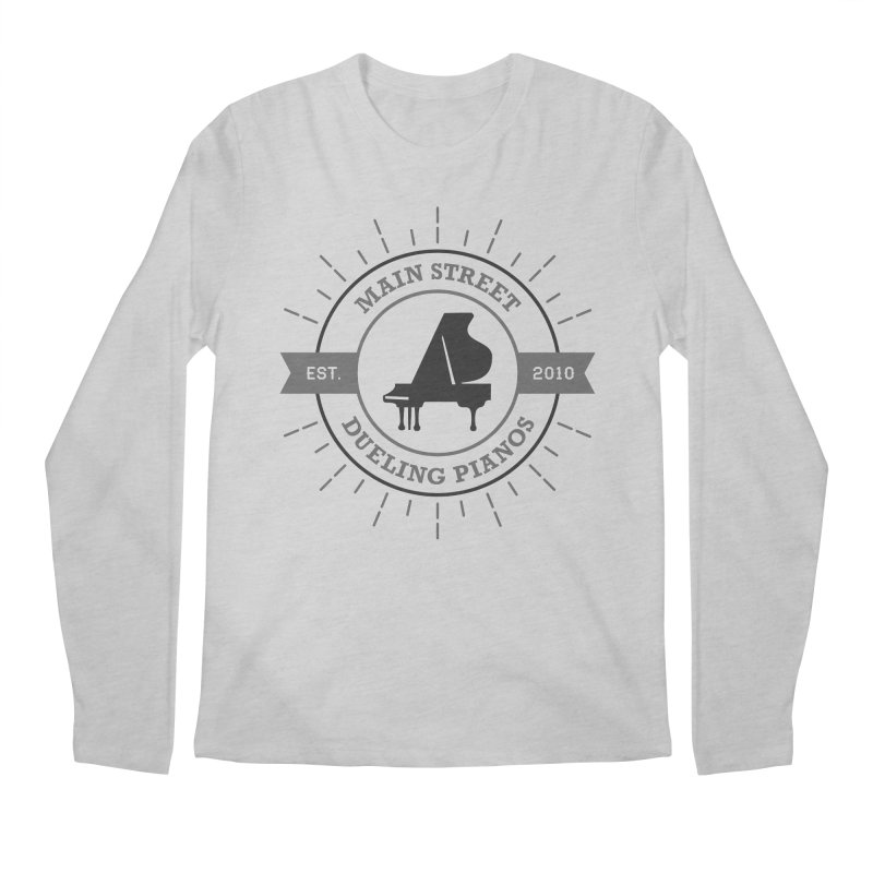 Main Street Logo Men's Regular Longsleeve T-Shirt by Main Street Dueling Pianos