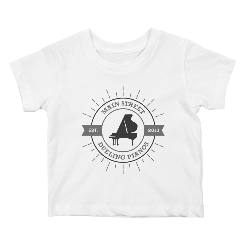 Main Street Logo Kids Baby T-Shirt by Main Street Dueling Pianos