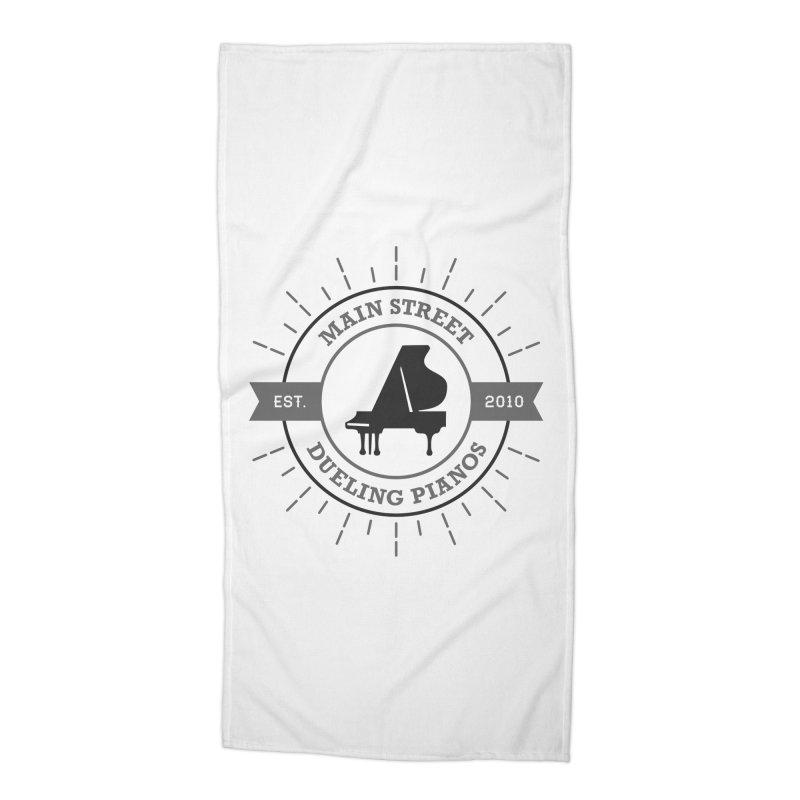 Main Street Logo Accessories Beach Towel by Main Street Dueling Pianos