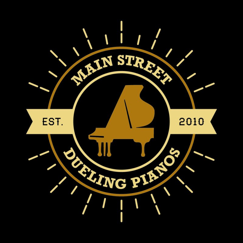 Main Street Logo Men's T-Shirt by Main Street Dueling Pianos