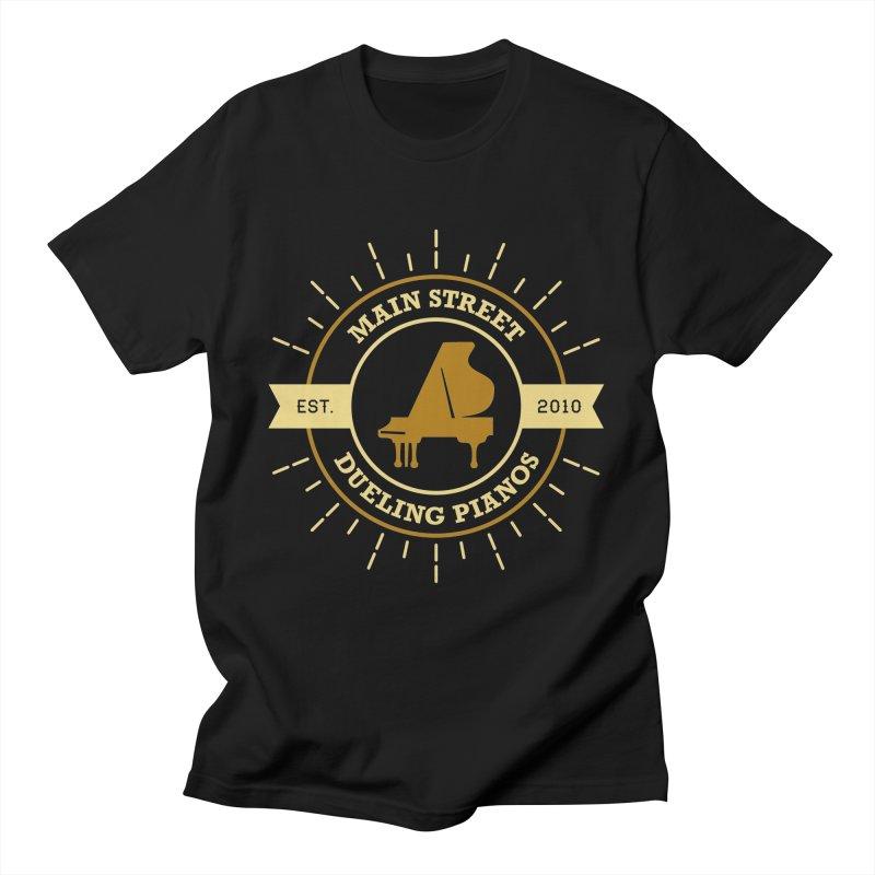 Main Street Logo Men's T-Shirt by Main Street Dueling Pianos