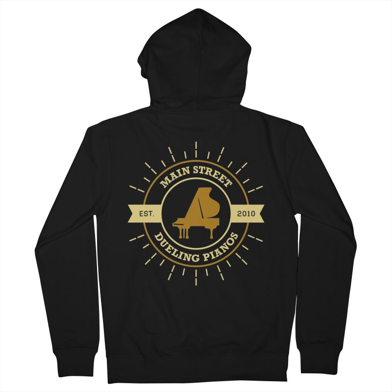 Main Street Logo Women's French Terry Zip-Up Hoody by Main Street Dueling Pianos