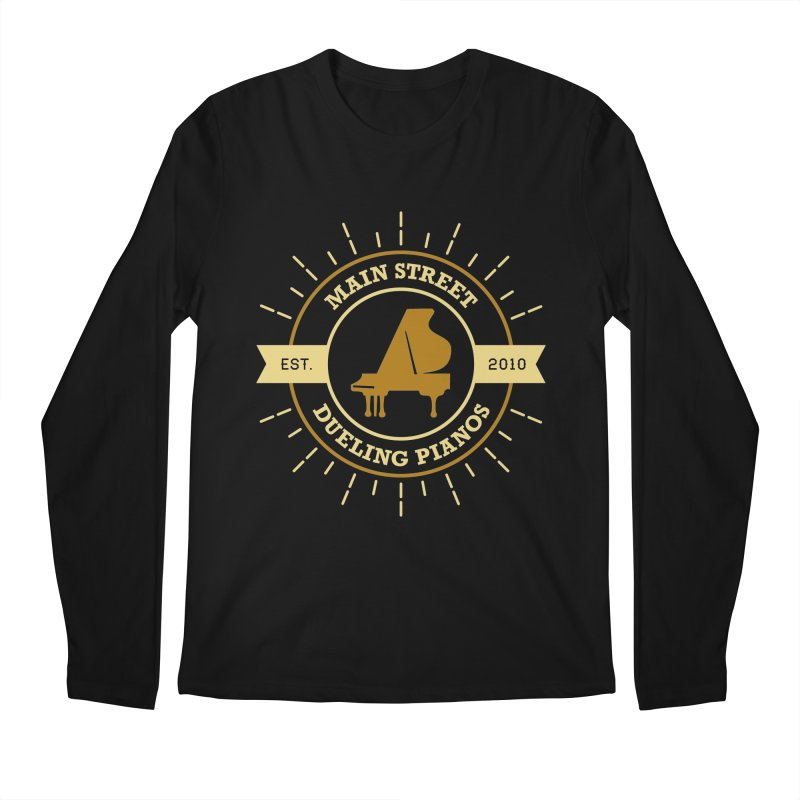 Main Street Logo Men's Longsleeve T-Shirt by Main Street Dueling Pianos