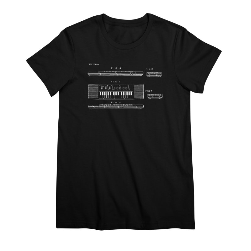 Keyboard Patent Women's Premium T-Shirt by Main Street Dueling Pianos