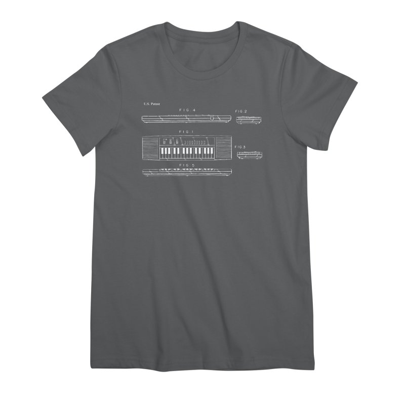 Keyboard Patent Women's Premium T-Shirt by Main Street Dueling Pianos