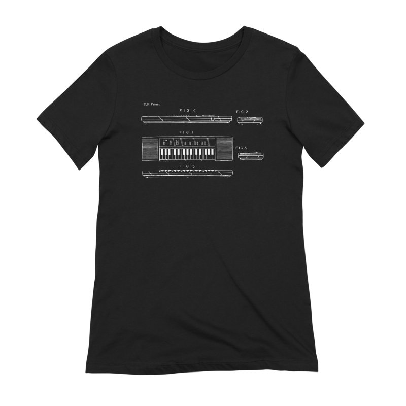 Keyboard Patent Women's Extra Soft T-Shirt by Main Street Dueling Pianos