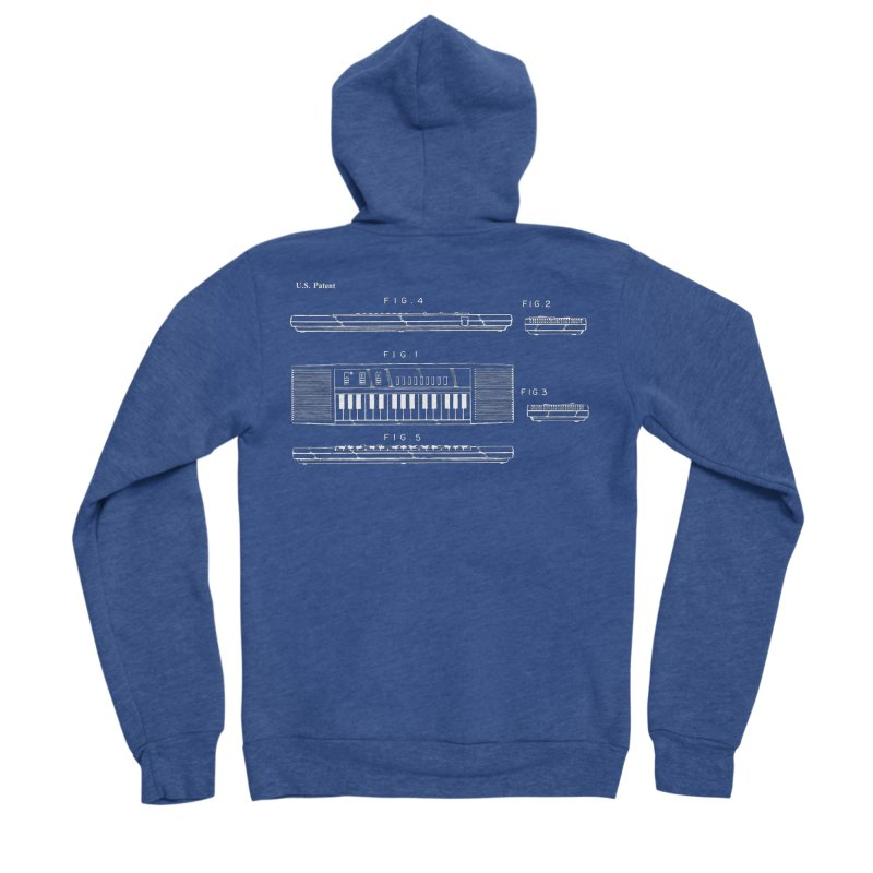 Keyboard Patent Women's Zip-Up Hoody by Main Street Dueling Pianos