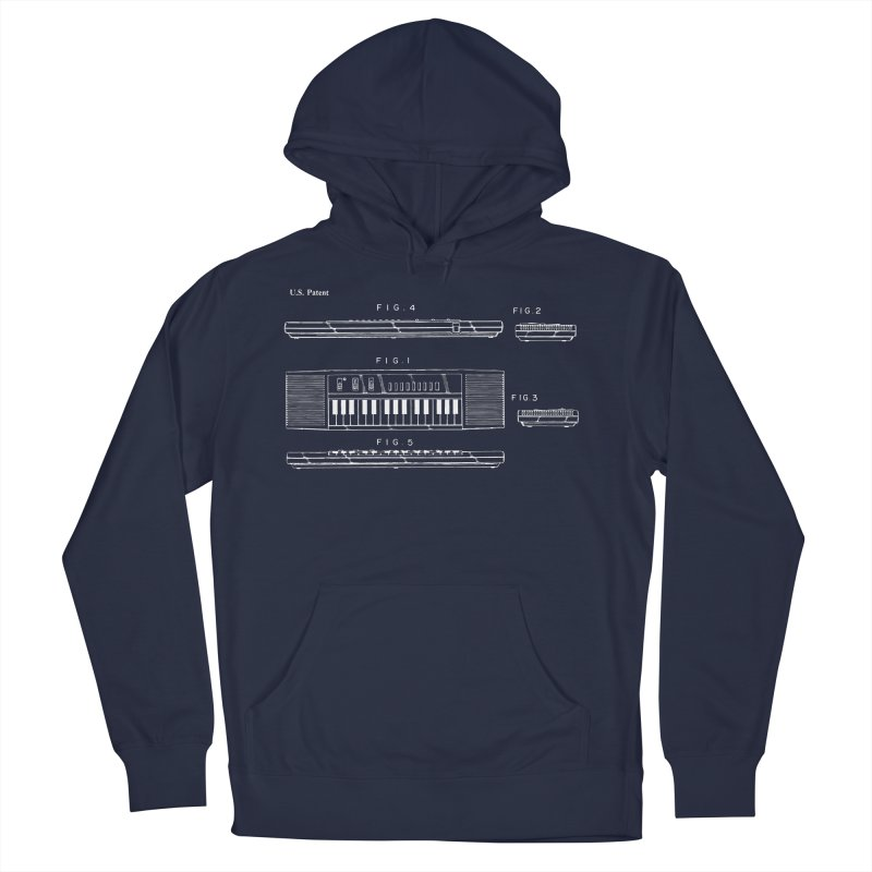 Keyboard Patent Women's French Terry Pullover Hoody by Main Street Dueling Pianos