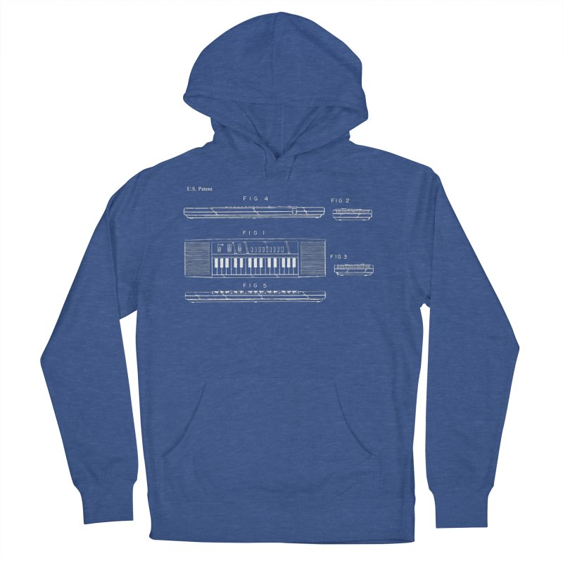 Keyboard Patent Men's French Terry Pullover Hoody by Main Street Dueling Pianos