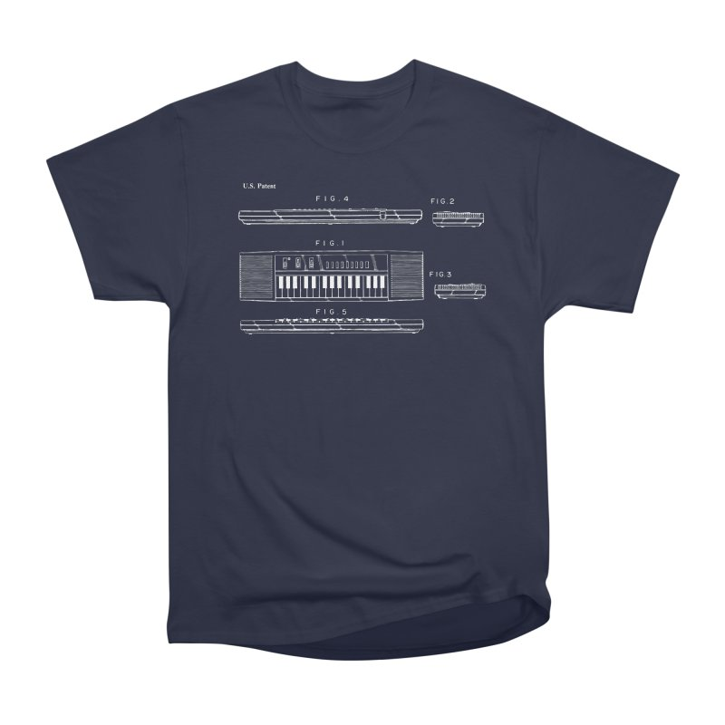 Keyboard Patent Men's Heavyweight T-Shirt by Main Street Dueling Pianos