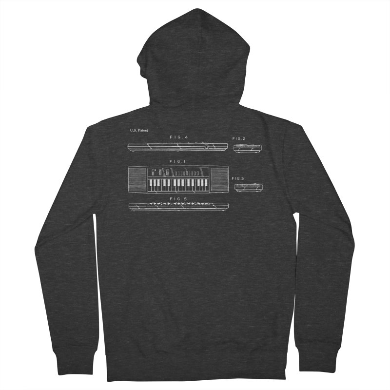Keyboard Patent Women's French Terry Zip-Up Hoody by Main Street Dueling Pianos