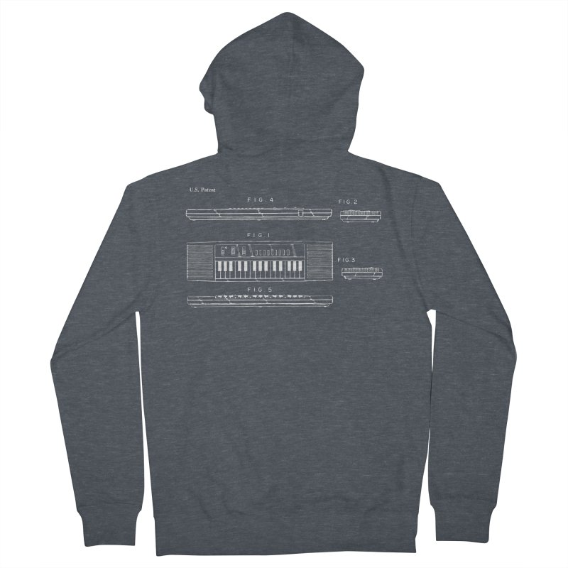Keyboard Patent Men's Zip-Up Hoody by Main Street Dueling Pianos