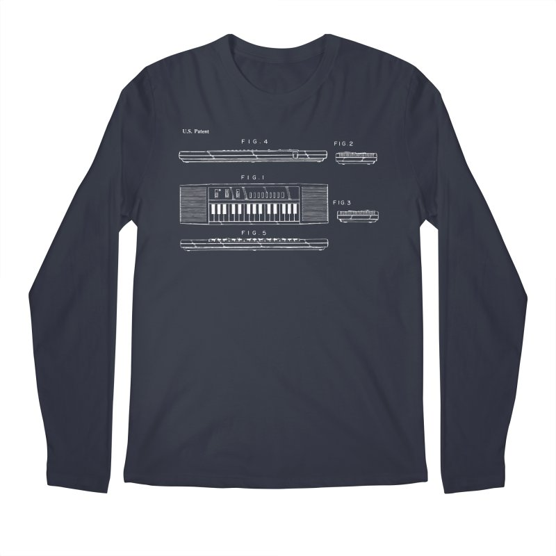 Keyboard Patent Men's Regular Longsleeve T-Shirt by Main Street Dueling Pianos