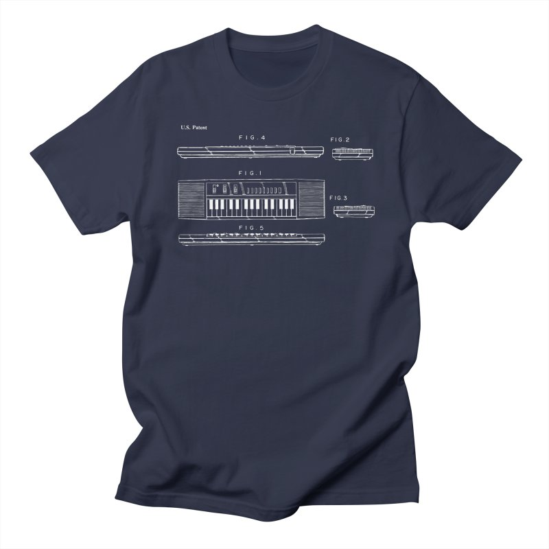 Keyboard Patent Women's Regular Unisex T-Shirt by Main Street Dueling Pianos