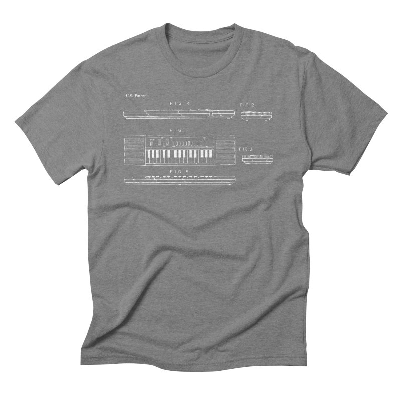 Keyboard Patent Men's Triblend T-Shirt by Main Street Dueling Pianos