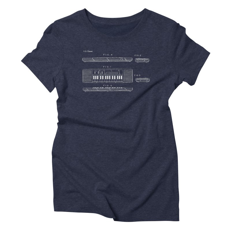 Keyboard Patent Women's T-Shirt by Main Street Dueling Pianos