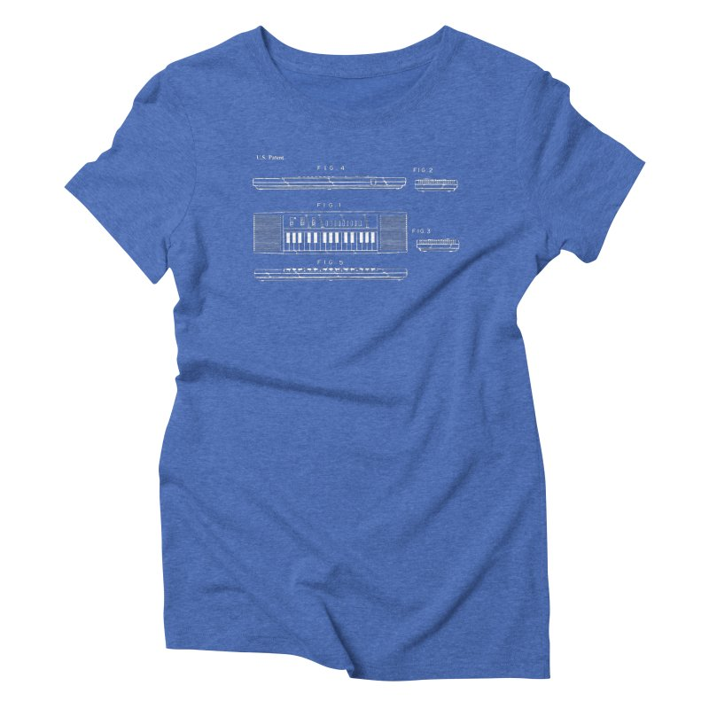 Keyboard Patent Women's Triblend T-Shirt by Main Street Dueling Pianos