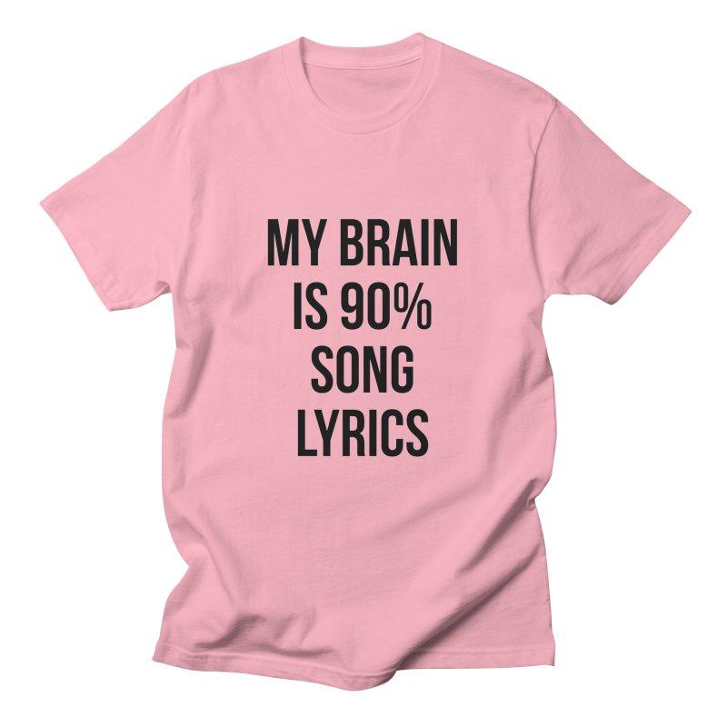 90% Song Lyrics Men's T-Shirt by Main Street Dueling Pianos