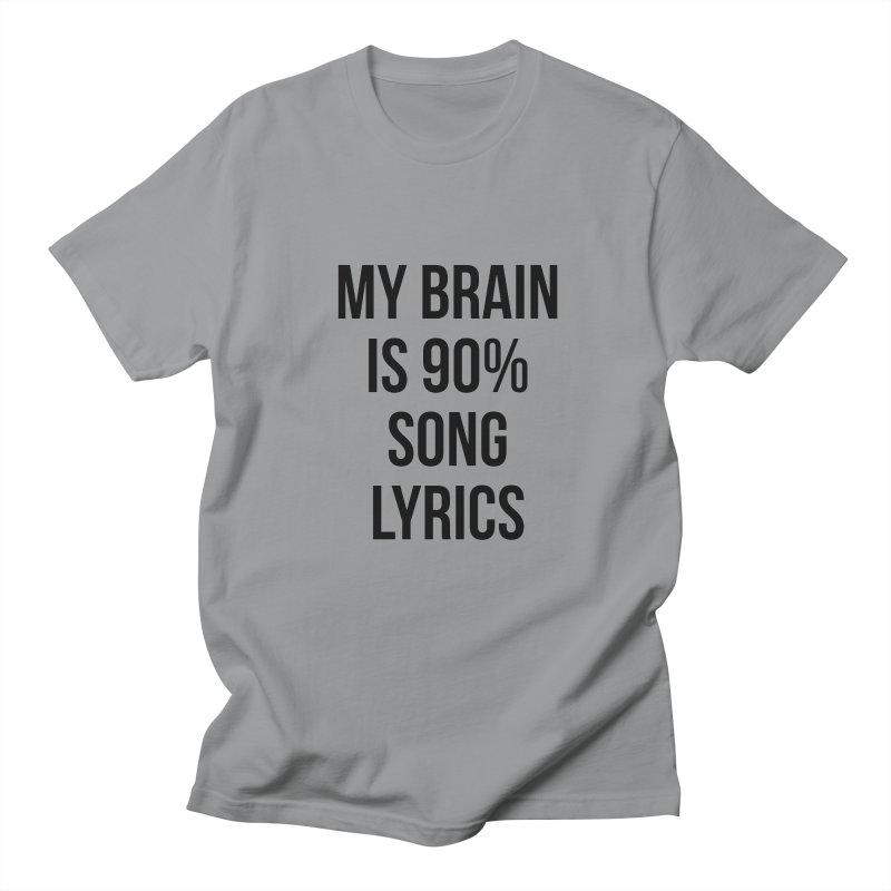 90% Song Lyrics Men's Regular T-Shirt by Main Street Dueling Pianos