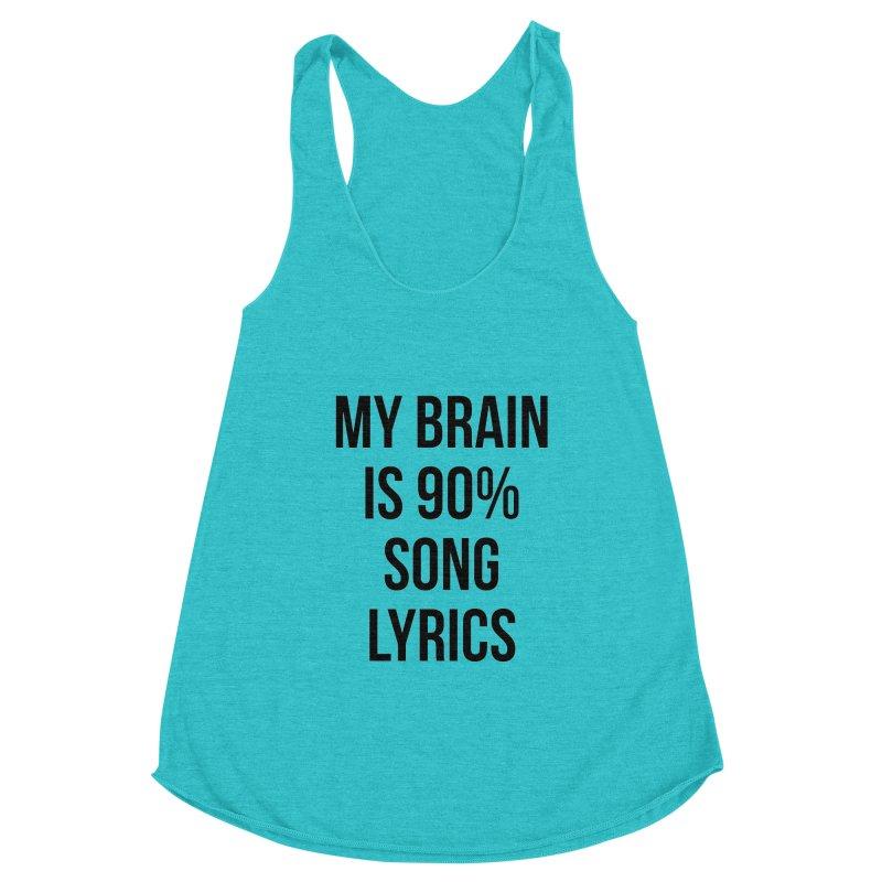 90% Song Lyrics Women's Tank by Main Street Dueling Pianos