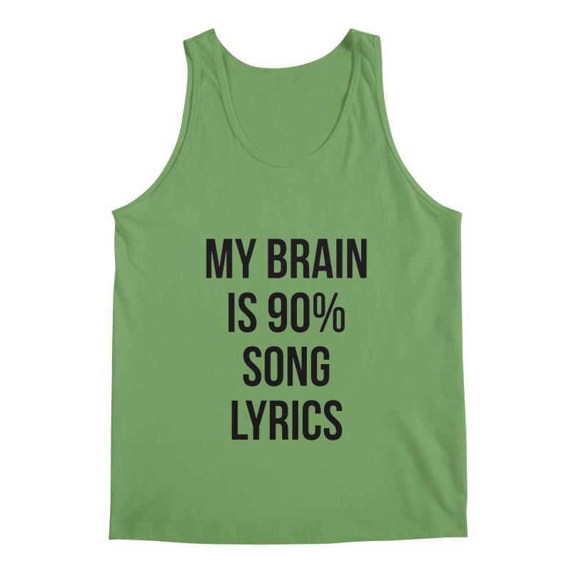 90% Song Lyrics Men's Tank by Main Street Dueling Pianos