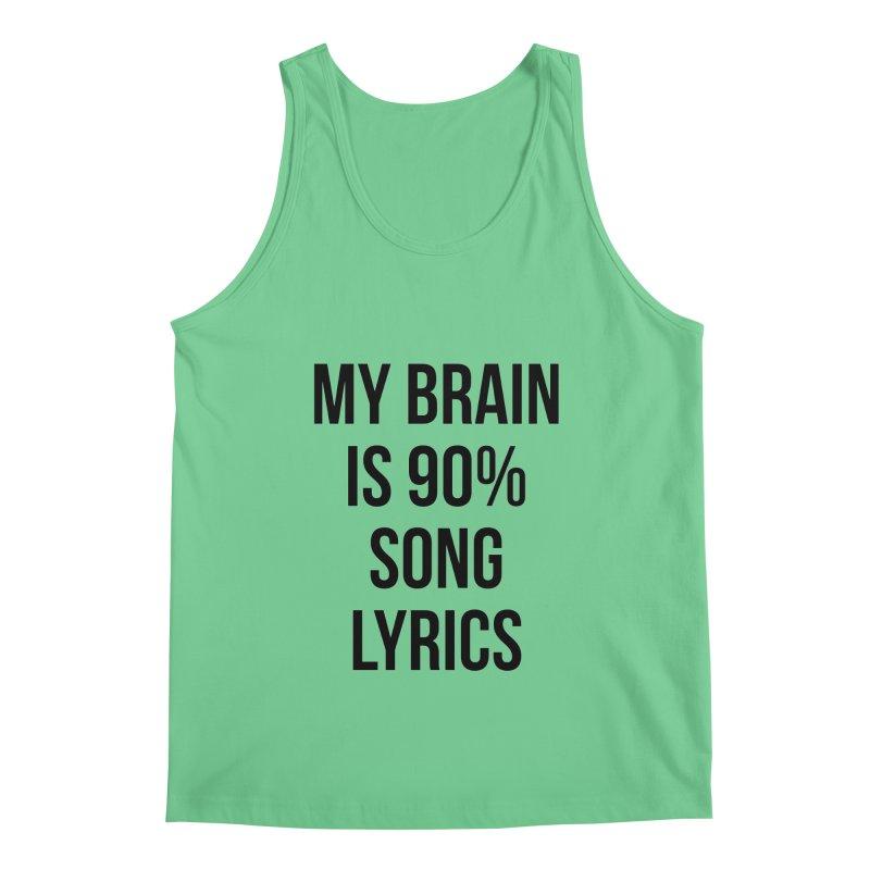 90% Song Lyrics Men's Regular Tank by Main Street Dueling Pianos