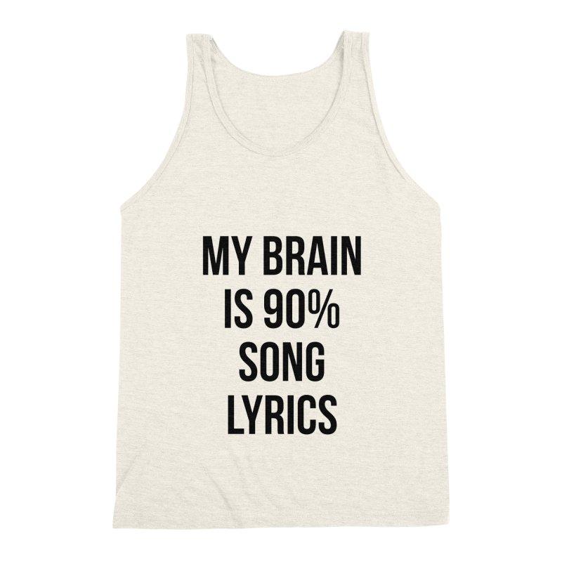 90% Song Lyrics Men's Triblend Tank by Main Street Dueling Pianos