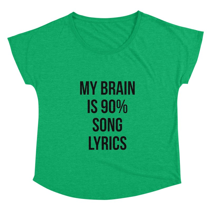 90% Song Lyrics Women's Scoop Neck by Main Street Dueling Pianos